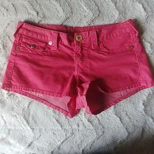 True Religion Pink Shorts